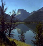 Views of Green River Lakes and Square Top Mountain are outstanding