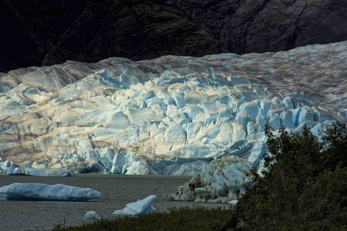 Mendenhall Glacier Blue Ice. Photo by Dave Bell.