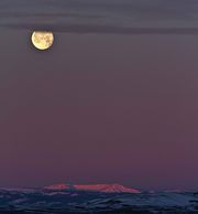 Moon Over Wyoming Range. Photo by Dave Bell.