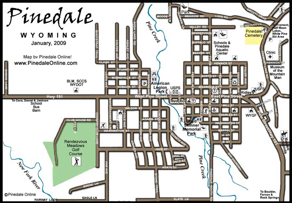 Pinedale Town Map