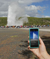 New geyser app now available for smartphones and tablets. Photo courtesy Yellowstone National Park