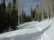 Groomed snowmachine trails. Photo courtesy Triple Peak Guest Ranch.