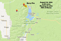 Berry Fire, Grand Teton National Park