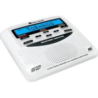 Midland NOAA weather radio beeping - If the radio doesn't receive its weekly test from NOAA, it beeps every 10 minutes. To make it stop, unplug and take a battery out. You'll need to reset the clock. The rest of the settings shouldn't be affected by this reset.