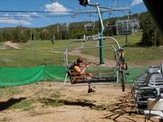 During the summer, White Pine ski area outfits the lifts with special chairs that can accommodate mountain bikes. Pinedale Online photo